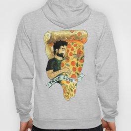 true love pizza gay heart Hoody