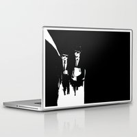blues brothers Laptop & iPad Skins featuring blues brothers by serenita