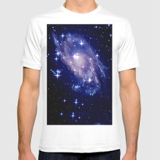 Galaxy deep in space. White Mens Fitted Tee MEDIUM