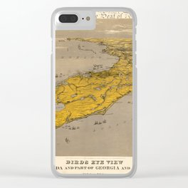 Vintage Map of Florida Clear iPhone Case