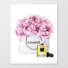 Coco Mademoiselle Fashion Drawing Wall Art Fashion Illustration Print Perfume Coco Custom Art Canvas Print