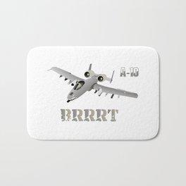 A-10 Warthog Jet Aircraft BRRRT Bath Mat