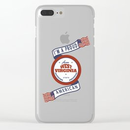 West Virginia Clear iPhone Case