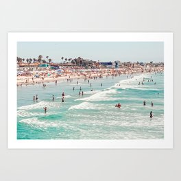 Pacific Beach Landscape, San Diego, California Art Print