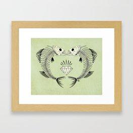 fishbones Framed Art Print