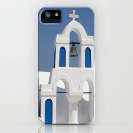 Santorin Colors - Blue & White iPhone Case