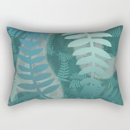 Fern pattern turquoise with waves #society6 Rectangular Pillow