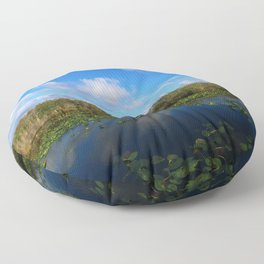 Blue Hour In The Everglades Floor Pillow