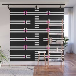 Licorice Bytes, No.5 in Black and Pink Wall Mural