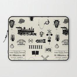Railroad Symbols // Beige Laptop Sleeve