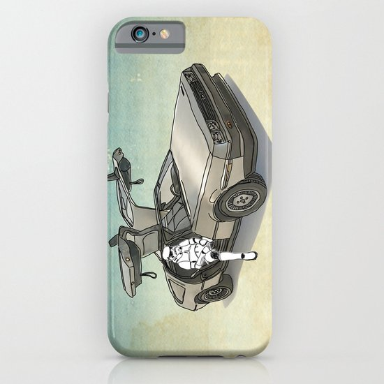 Stormtrooper in a DeLorean - waiting for the car club iPhone & iPod Case