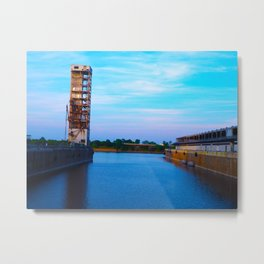 Dock in Old Port Metal Print