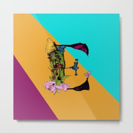 Come On Eileen, Floral Letter E Metal Print