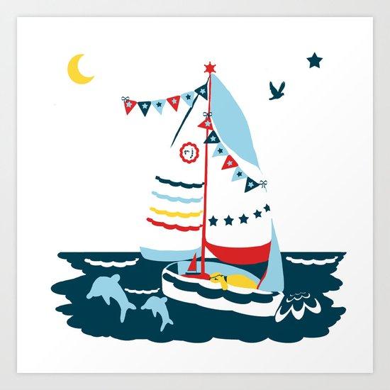 The Scallop Sea Art Print