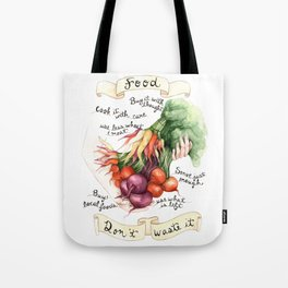 Food Poster Tote Bag