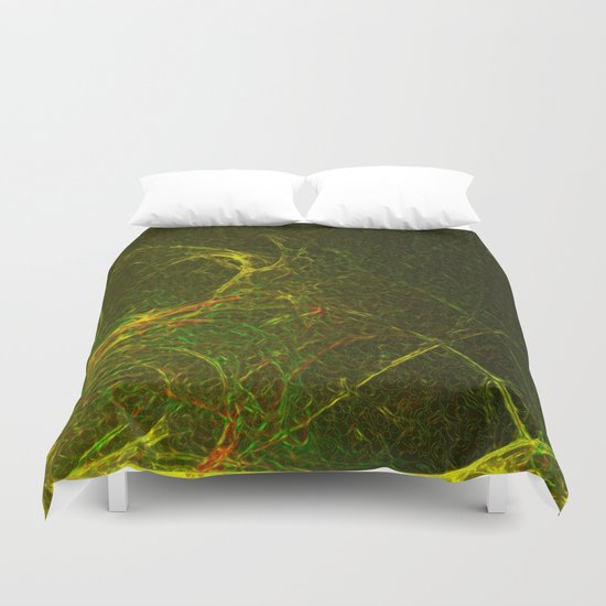 Solar Flare Waves Duvet Cover