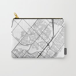 Oakville Map, Canada - Black and White Carry-All Pouch
