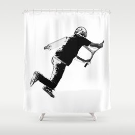 Tail-whip - Stunt Scooter Trick Shower Curtain