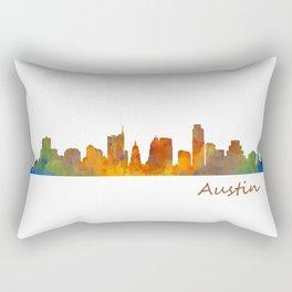 Austin Texas, City Skyline, watercolor  Cityscape Hq v1 Rectangular Pillow