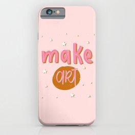 Make Art Lettering iPhone Case