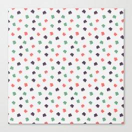 Colorful leaf seamless pattern design Canvas Print