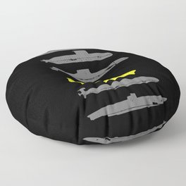 Know Your Submarines Floor Pillow
