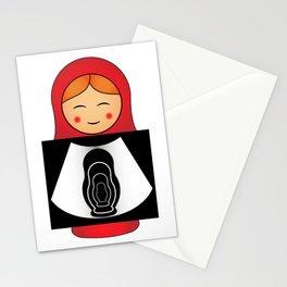 Pregnant Matryoshka Stationery Cards