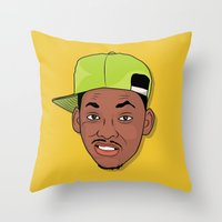 fresh prince Throw Pillows featuring Fresh Prince of Bel-Air by TheMohamz