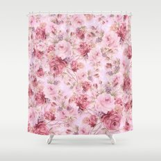 romantic pink roses Shower Curtain