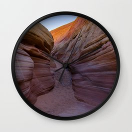 Colorful Canyon- 2, Valley of Fire State Park, Nevada Wall Clock