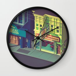 Beefiest burgers in town Wall Clock