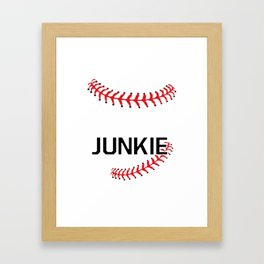 Softball Junkie Graphic Funny Sports T-shirt Framed Art Print