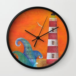 Out of Nowhere Lighthouse Wall Clock