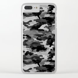 Camouflage (Gray) Clear iPhone Case