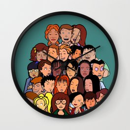 Daria Cast Wall Clock