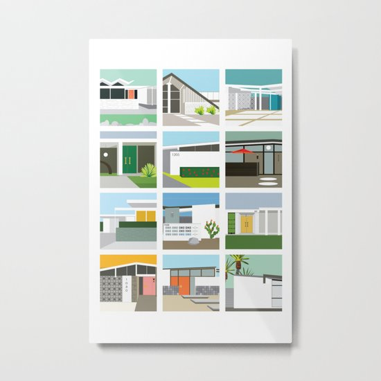 Midcentury Vintage Architecture Inspired by the Palm Springs Desert and Modern California Style by aubreydoodle
