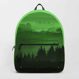 My road, my way. Green. Backpack