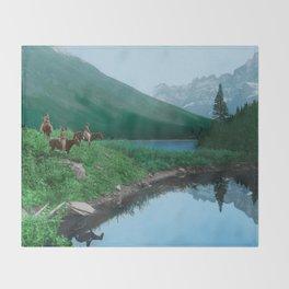 The Hunting Ground - Blackfoot American Indian Throw Blanket