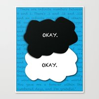 fault in our stars Canvas Prints featuring the fault in our stars by lizbee