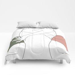 Figures line drawing - Elinor Comforters