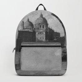 Francesco Guardi - Piazetta mit Blick auf Santa Maria della Salute (Nachahmer) Backpack