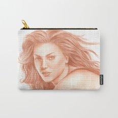 Woman Portrait 3 Carry-All Pouch