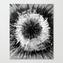 Black and White Tie Dye // Painted // Multi Media Canvas Print