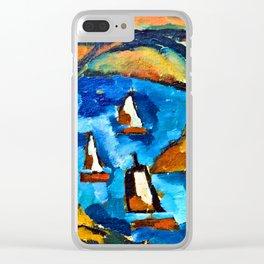 Amadeo de Souza Cardoso Bridge and Boats Clear iPhone Case