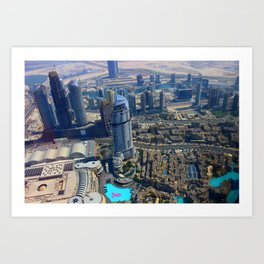View from the Burj Khalifa Art Print