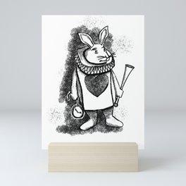 White Rabbit by Coreyartus Mini Art Print