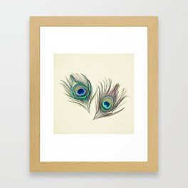 Eyes Framed Art Print