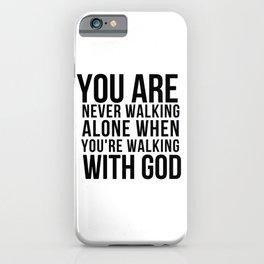 Trust In God iPhone Case
