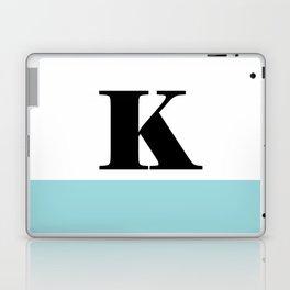 Monogram Letter K-Pantone-Limpet Shell Laptop & iPad Skin