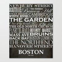 boston Canvas Prints featuring Boston by haulonthebowline